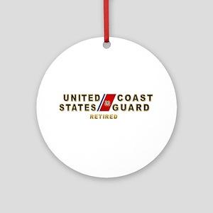USCG Retired Ornament (Round)