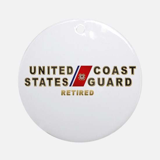 USCG Retired Ornament (Round)