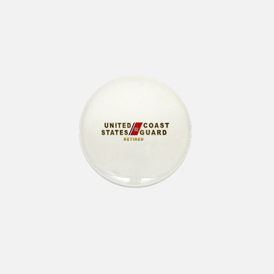 USCG Retired Mini Button