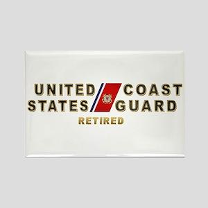 USCG Retired Rectangle Magnet
