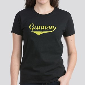 Gannon Vintage (Gold) Women's Dark T-Shirt