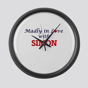 Madly in love with Simon Large Wall Clock