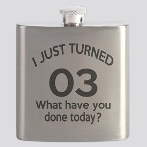 I Just Turned 3 What Have You Done Today ? Flask