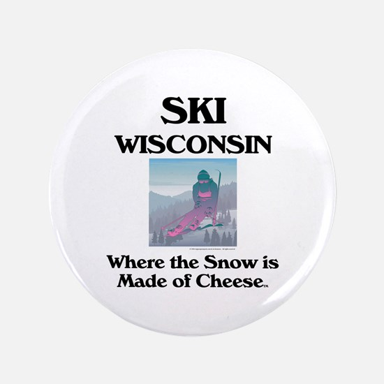 "TOP Ski Wisconsin 3.5"" Button"