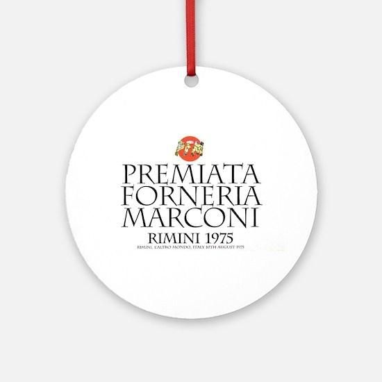 Pfm Premiata Forneria Marconi Round Ornament