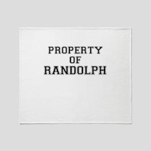 Property of RANDOLPH Throw Blanket
