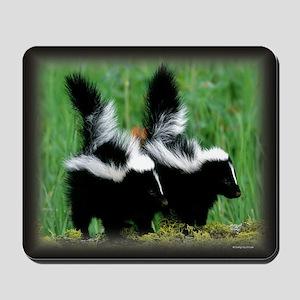 Skunk babies Mousepad