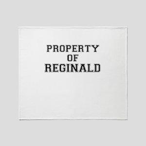 Property of REGINALD Throw Blanket