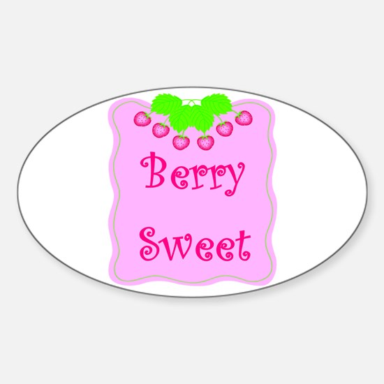 Berry Sweet Oval Decal