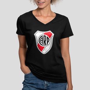 Escudo River Plate Women's V-Neck Dark T-Shirt