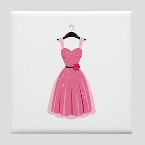 Pink Dress Tile Coaster