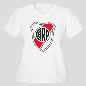 Escudo River Plate Women's Plus Size V-Neck T-Shir