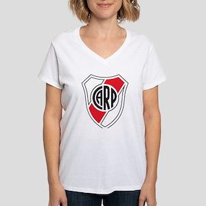 Escudo River Plate Women's V-Neck T-Shirt