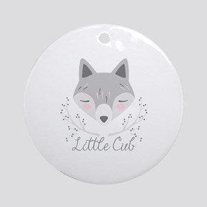 Little Cub Round Ornament