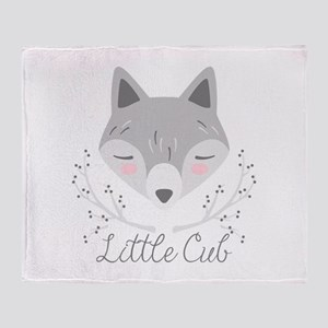 Little Cub Throw Blanket