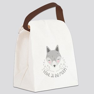 Howl At Moon Canvas Lunch Bag