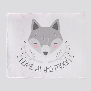 Howl At Moon Throw Blanket