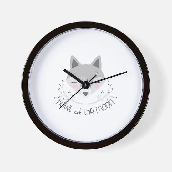 Howl At Moon Wall Clock