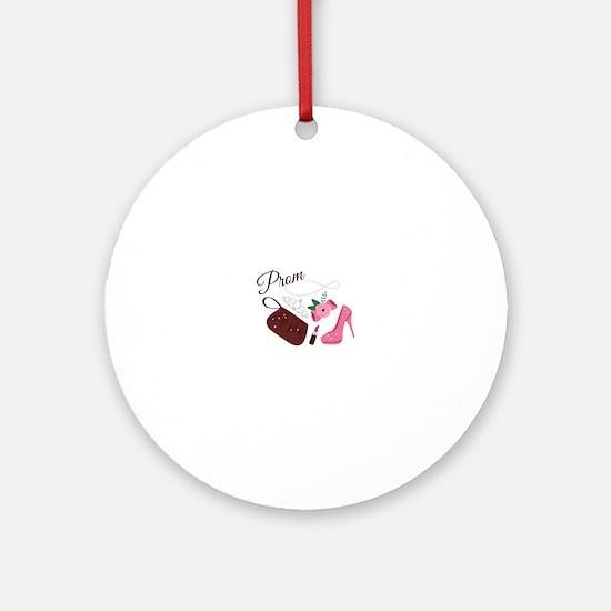 High School Prom Round Ornament