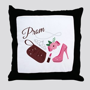 High School Prom Throw Pillow