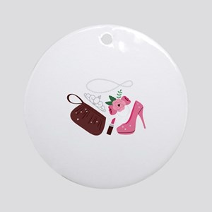 Prom Accessories Round Ornament