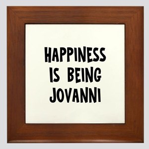 Happiness is being Jovanni Framed Tile