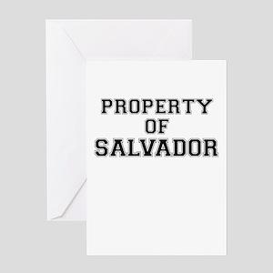 Property of SALVADOR Greeting Cards