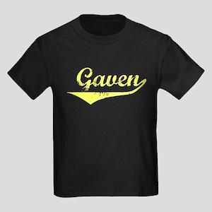 Gaven Vintage (Gold) Kids Dark T-Shirt