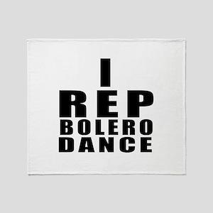 I Rep Bolero Dance Throw Blanket