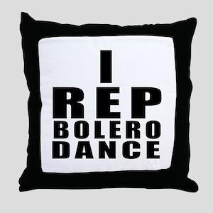 I Rep Bolero Dance Throw Pillow