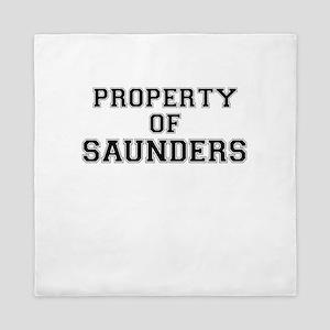Property of SAUNDERS Queen Duvet