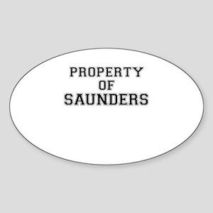 Property of SAUNDERS Sticker