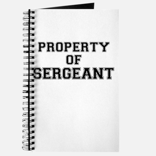 Property of SERGEANT Journal