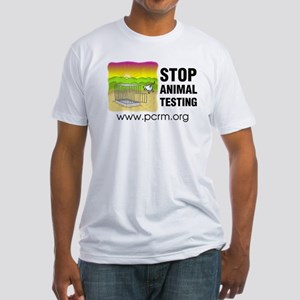 Stop Animal Testing Fitted T-Shirt