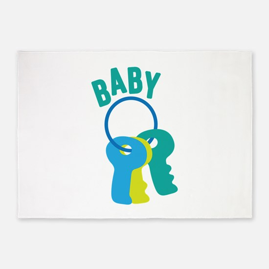 Baby Key Ring 5'x7'Area Rug