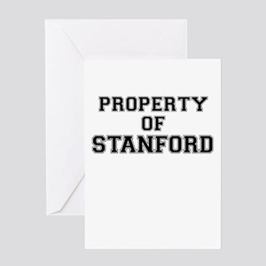 Property of STANFORD Greeting Cards