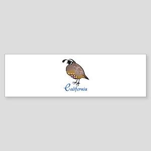 California Quail Bumper Sticker
