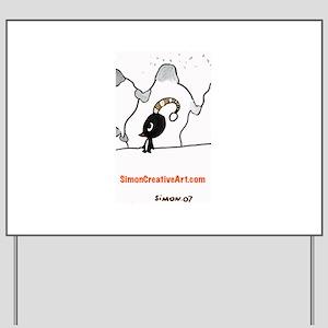Simon's Playful Penguin Yard Sign