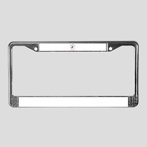 Simon's Playful Penguin License Plate Frame