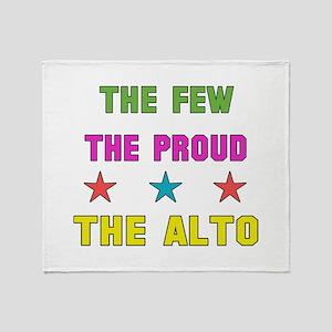 The Few, The Proud, The Alto Throw Blanket