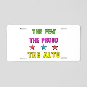The Few, The Proud, The Alt Aluminum License Plate