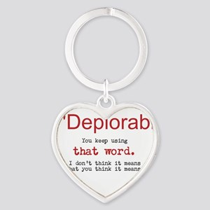 Proud DEPLORABLE for Trump Keychains