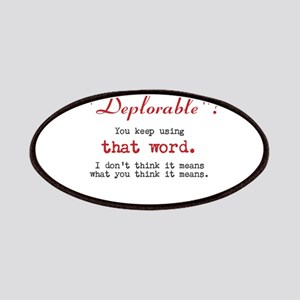 Proud DEPLORABLE for Trump Patch