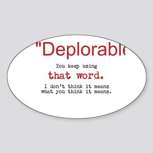 Proud DEPLORABLE for Trump Sticker