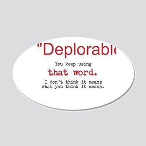 Proud DEPLORABLE for Trump Wall Decal