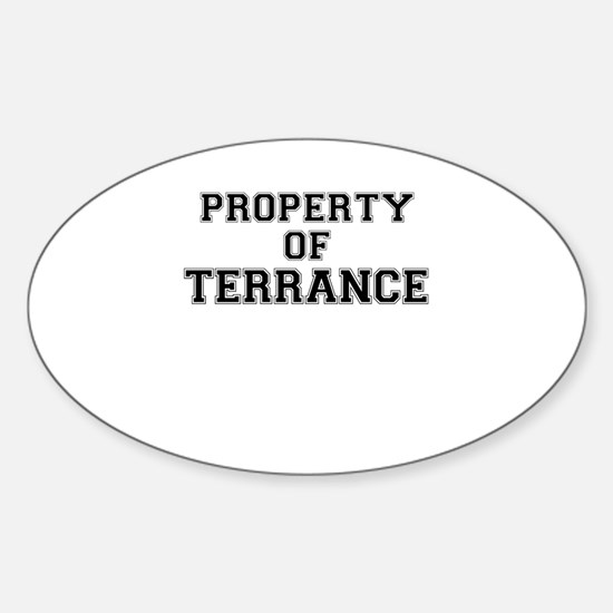 Property of TERRANCE Decal
