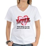 Love and Sex Women's V-Neck T-Shirt