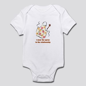 I wear the apron Infant Bodysuit