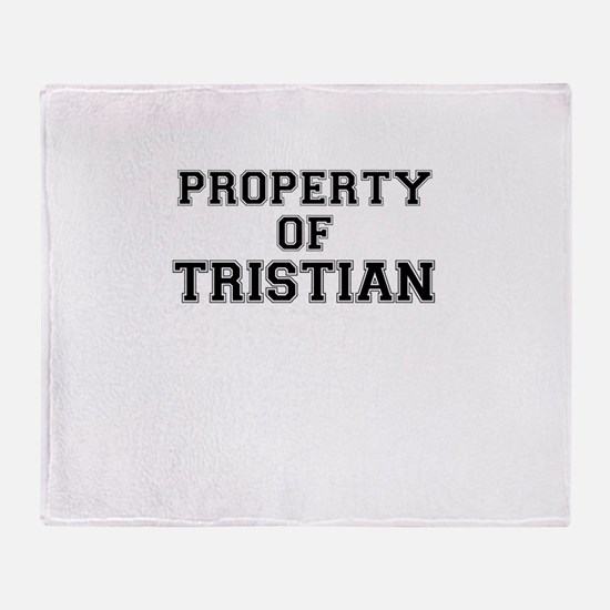 Property of TRISTIAN Throw Blanket
