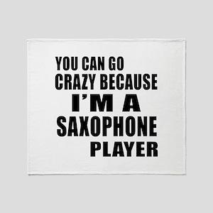 I Am saxophone Player Throw Blanket